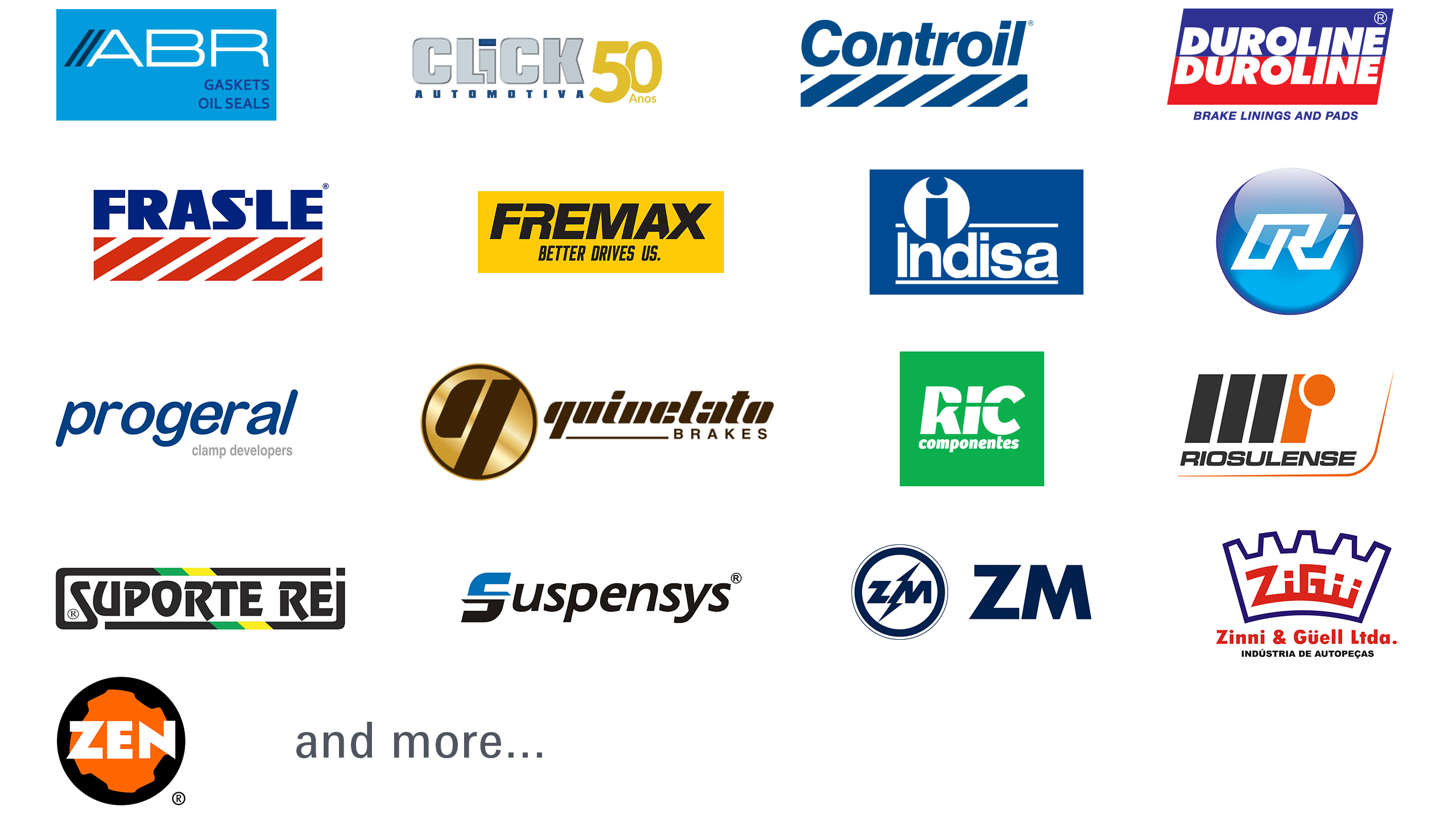 Automechanika Dubai Brazilian Pavilion exhibitor logo collage