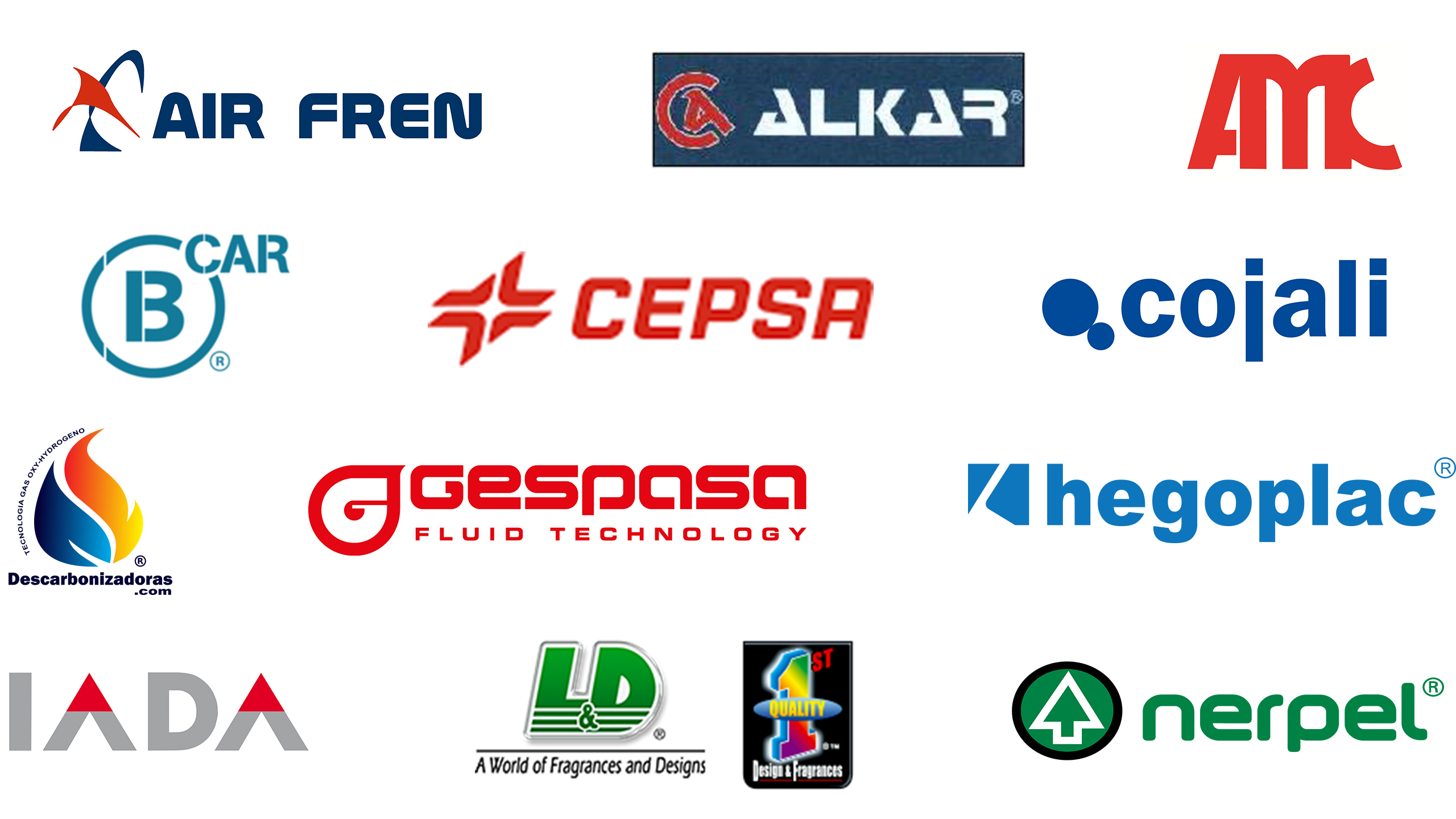 Automechanika Dubai Spain Pavilion exhibitor logo collage